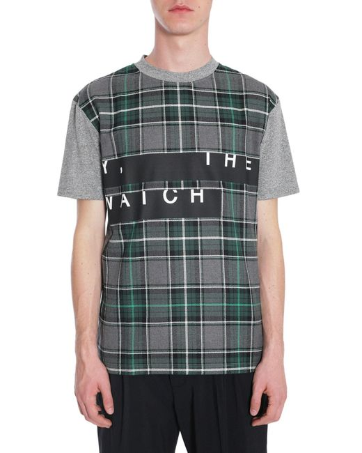 McQ Alexander McQueen | Gray Crew-neck Tartan Print T-shirt for Men | Lyst