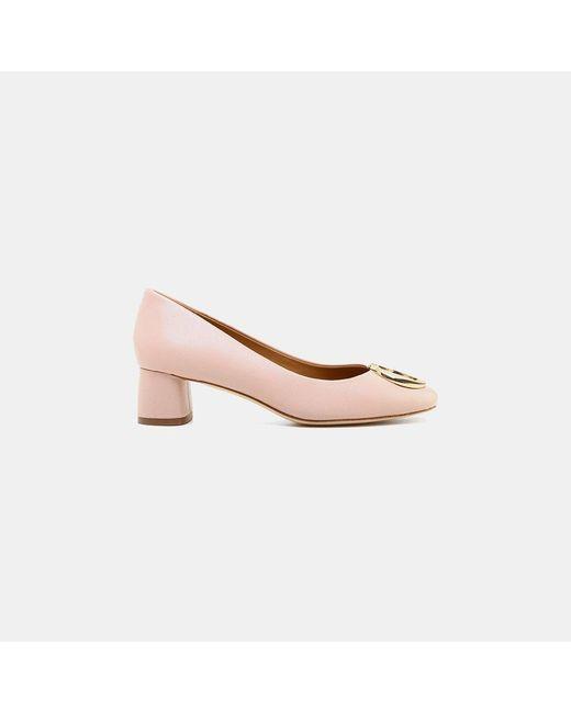f53997054b Tory Burch - Pink Caterina Nappa Leather Pump - Lyst ...
