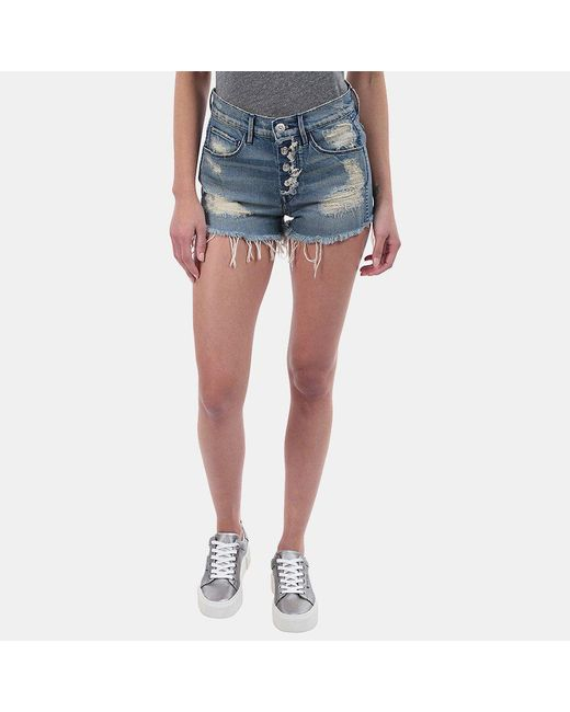 3x1 - Blue Liberty Cut Off Shorts - Lyst