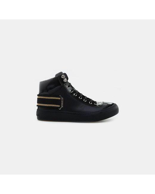 Jimmy Choo - Black Argyle High Top Sneaker for Men - Lyst