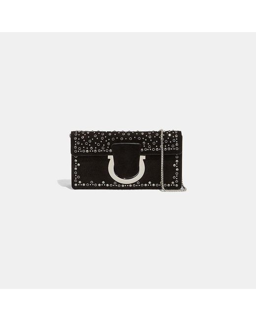 Ferragamo - Black Small Thalia Clutch - Lyst