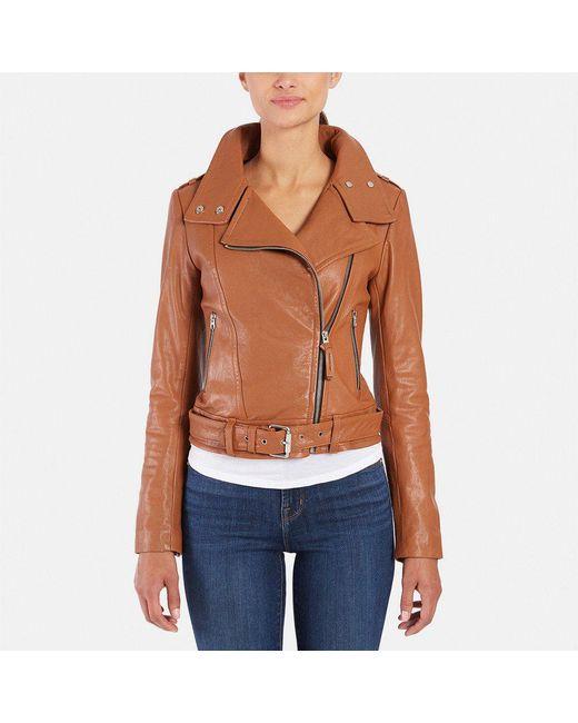 Mackage | Blue Hania Leather Biker Jacket | Lyst