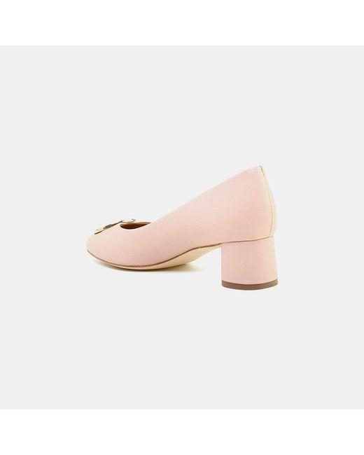 26f1a98930 ... Tory Burch - Pink Caterina Nappa Leather Pump - Lyst ...