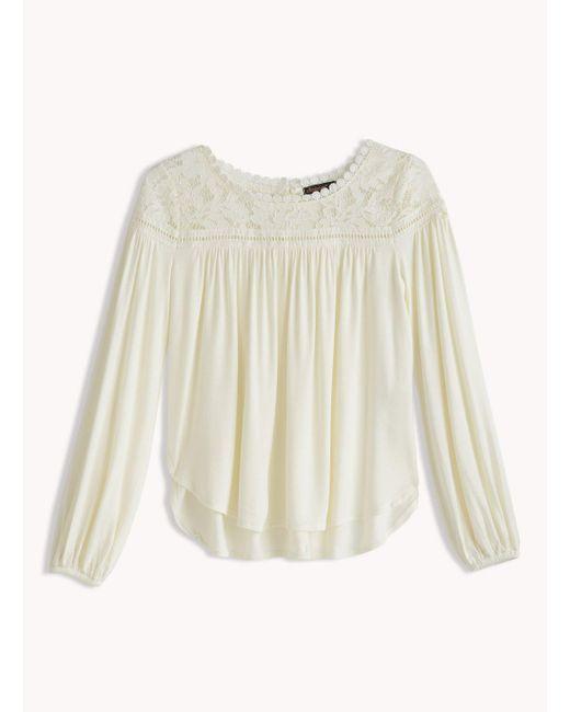 Ella Moss | White Girl Gwen Bell Sleeve Top | Lyst