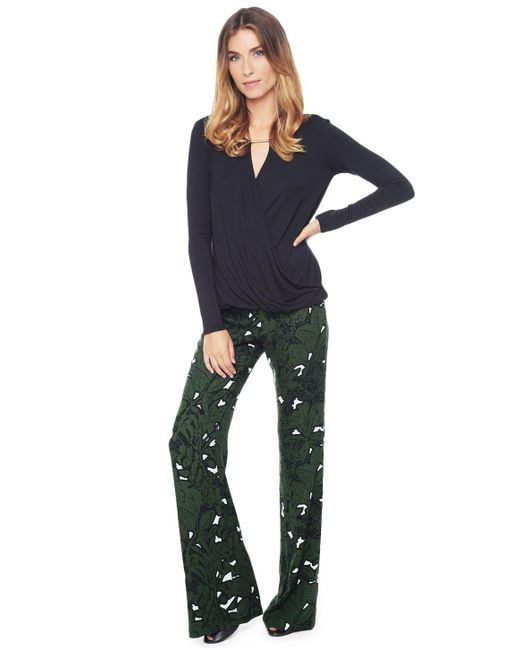 Ella Moss | Green Jungle Floral Flare Pant | Lyst