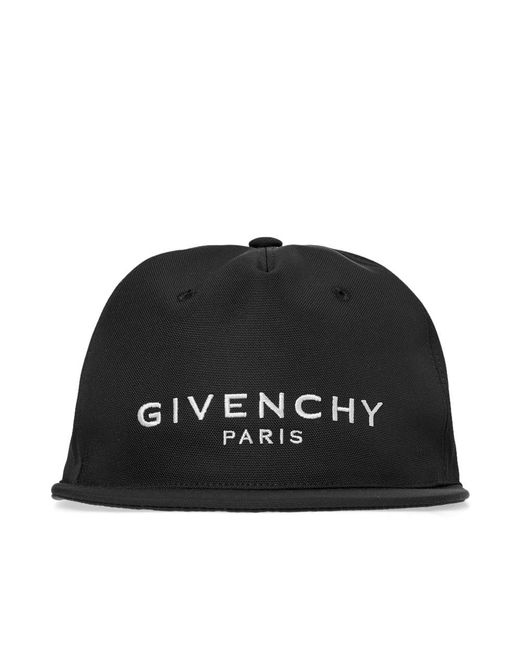 20e2e59fd4d ... Givenchy - Black Classic Logo Cap for Men - Lyst ...