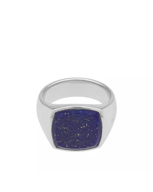 Tom Wood - Metallic Cushion Blue Lapis Lazuli Ring for Men - Lyst