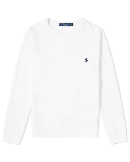 8a82f6fc110f Lyst - Polo Ralph Lauren Lightweight Crew Sweat in White for Men ...