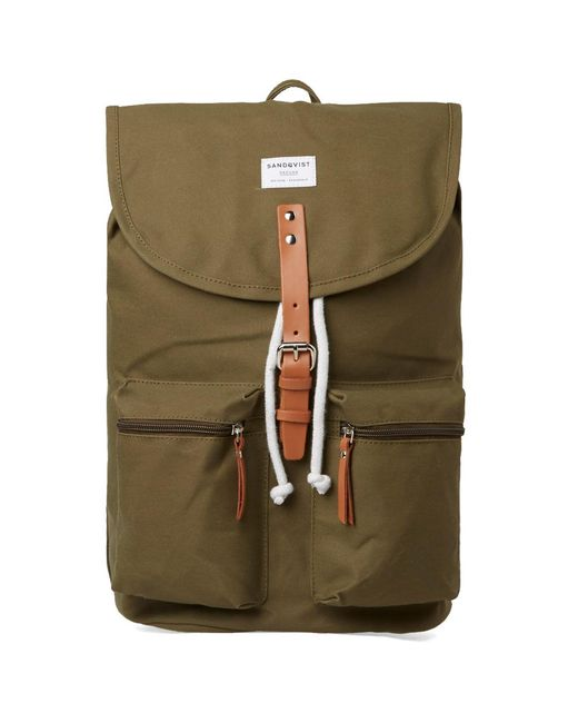 Sandqvist   Green Roald Backpack for Men   Lyst