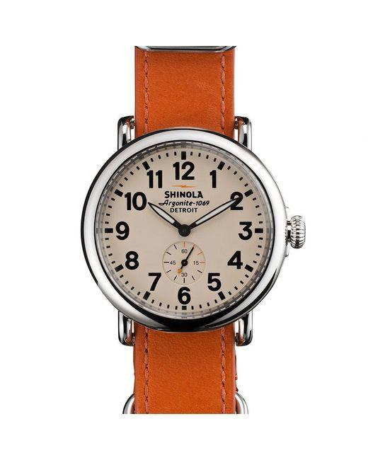 Shinola - Brown Runwell 41mm Watch for Men - Lyst