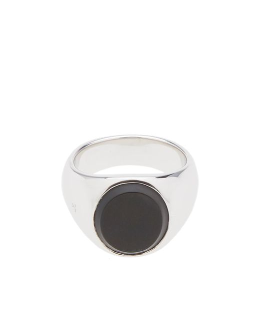 Tom Wood - Metallic Oval Black Onyx Ring for Men - Lyst