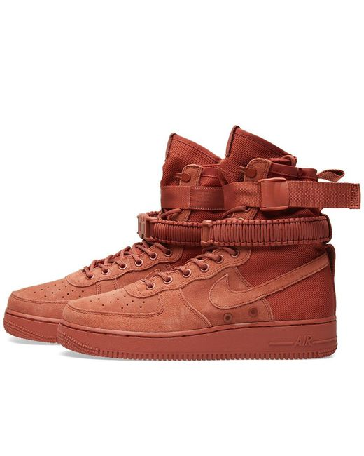 Nike Air En Force 1 Sf Lyst En Air Rosa Para Hombres 827020