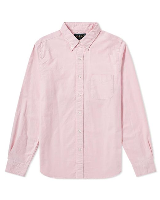 Beams Plus - Pink Button Down Oxford Shirt for Men - Lyst