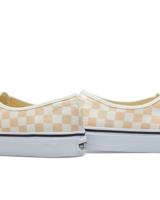 ... Vans - Orange Authentic Checkerboard for Men - Lyst ... 7b25708dd