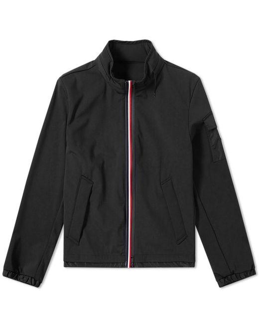 Moncler - Black Ventoux Soft Shell Tricolour Hooded Jacket for Men - Lyst