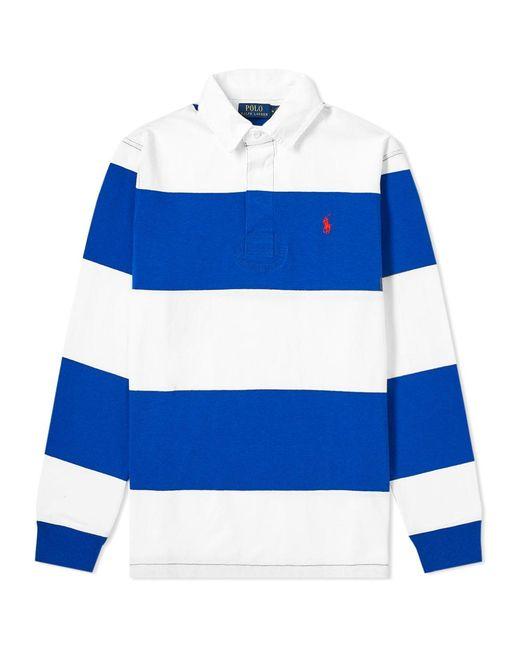 f4536312dcd2 Polo Ralph Lauren - Blue Long Sleeve Striped Rugby Shirt for Men - Lyst ...