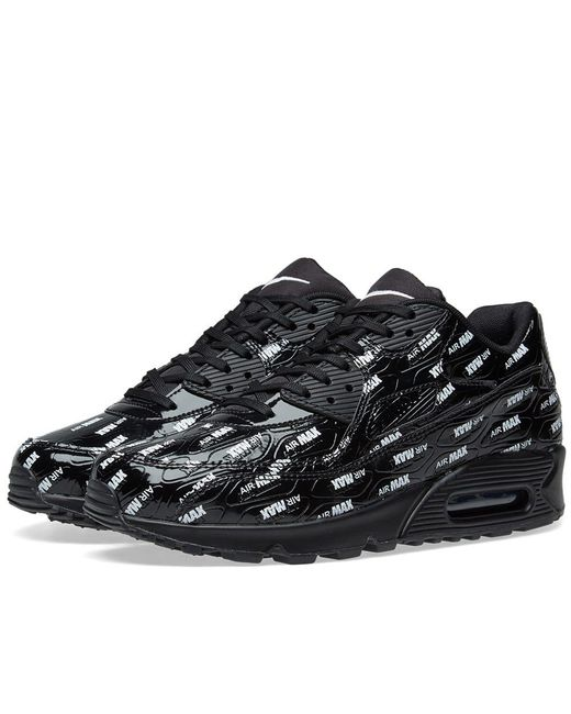 b7327056f2a793 Nike - Black Air Max 90 Premium for Men - Lyst ...