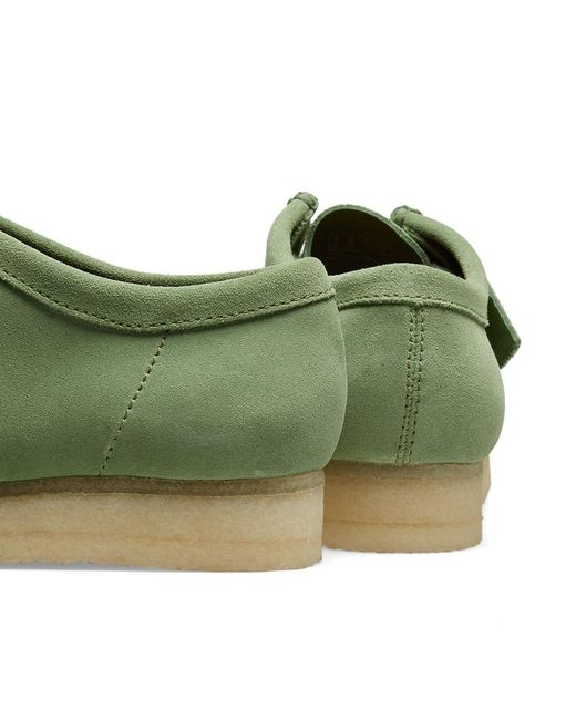 2aa286fd18f3 Lyst - Clarks Suede Wallabee Shoes in Green for Men - Save 5%
