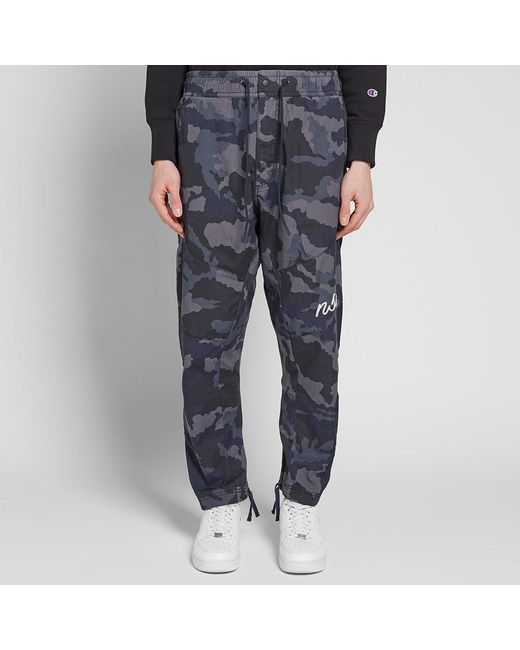 d40c79e6fb9 ... Nike - Blue Camo Woven Sweat Pant for Men - Lyst ...