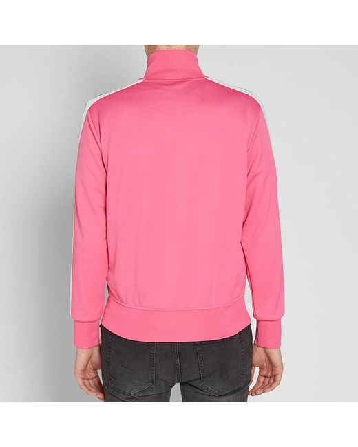 858e85020b Lyst - Palm Angels Taped Track Jacket in Pink for Men - Save ...