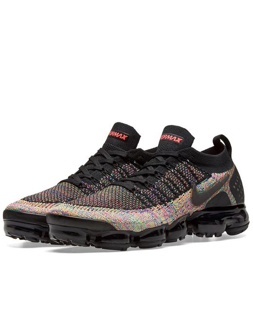 promo code b89a7 35645 Nike - Black Air Vapormax Flyknit 2 for Men - Lyst ...
