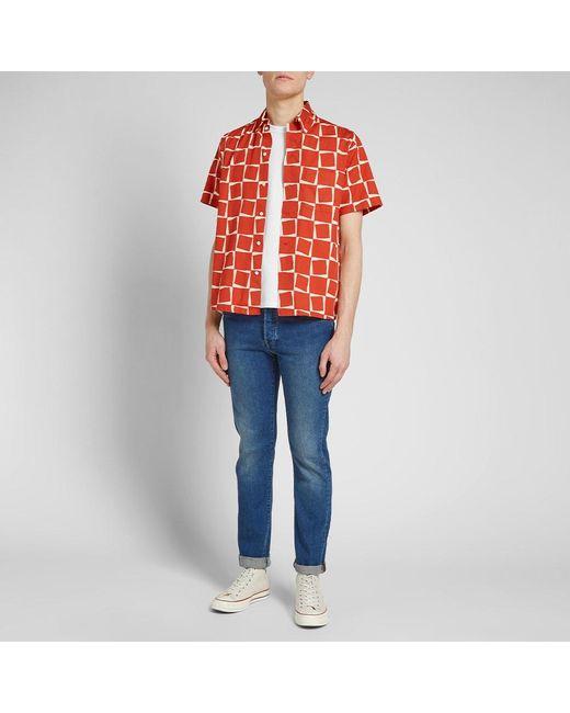 9451c1edab ... Men - Lyst Levi s - Red Levi s Vintage Clothing Short Sleeve 1950 s  Shirt for ...