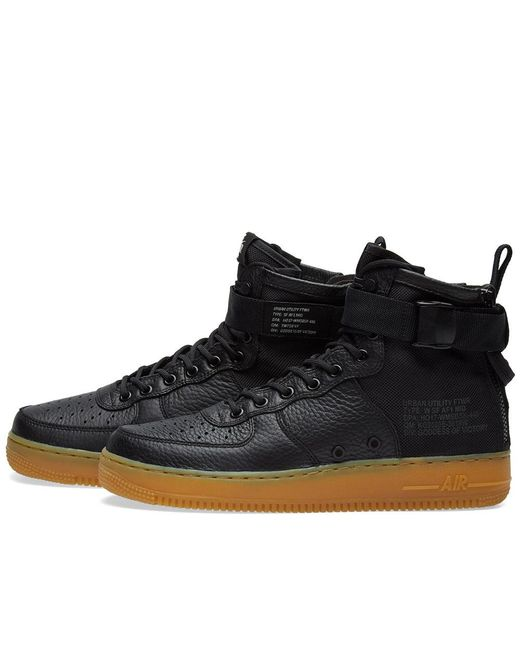 Nike Sf Air Force 1 Mid W in Black for Men - Save 51% - Lyst dffb6c1c4