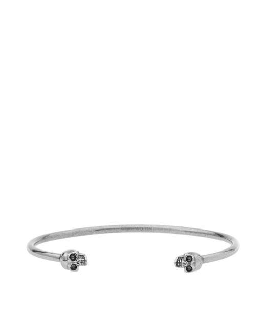 Alexander McQueen - Metallic Thin Twin Skull Bracelet for Men - Lyst