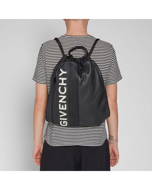 c9760e75cb ... Givenchy - Black Drawstring Gym Bag for Men - Lyst ...