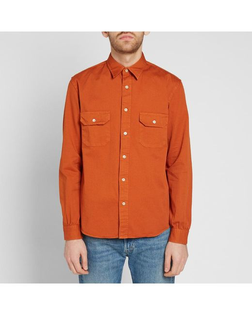 9e394e216e ... Lyst Levi s - Orange Levi s Vintage Clothing Tab Twill Shirt for Men ...
