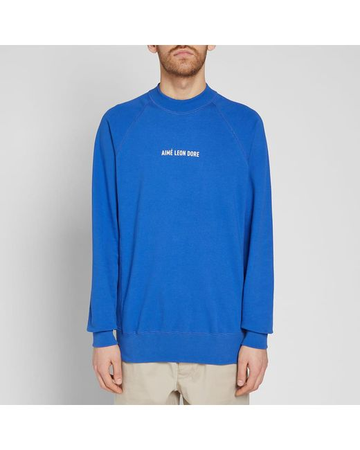 ... Aimé Leon Dore - Blue Logo Crew Sweat for Men - Lyst ... 3ba9fb7186f8