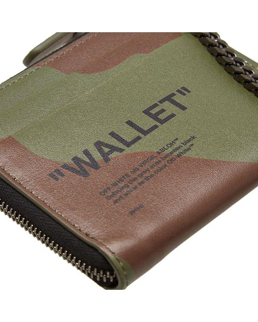 f44fd2ae0d64 ... Off-White c/o Virgil Abloh - Green Quote Chain Wallet for Men ...