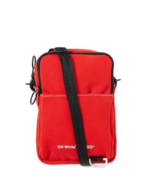 19949b25ce0 Off-White c o Virgil Abloh Denim Hip Bag In Red white in Red for Men ...