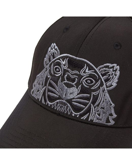 1eb95cd6e7f KENZO Tiger-embroidered Canvas Cap in Black for Men - Save 38% - Lyst