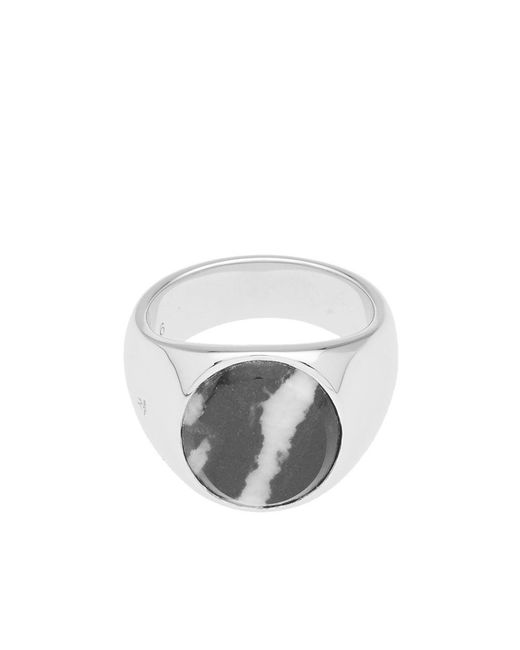 Tom Wood - Metallic Oval Zebra Marble Ring for Men - Lyst
