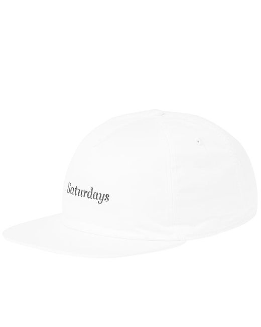 Saturdays NYC - White Stanley Italics Cap for Men - Lyst