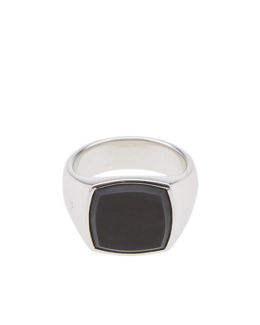 Tom Wood - Metallic Cushion Onyx Sterling Silver Signet Ring for Men - Lyst