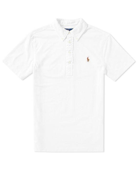 Polo Ralph Lauren | White Oxford Pique Polo for Men | Lyst