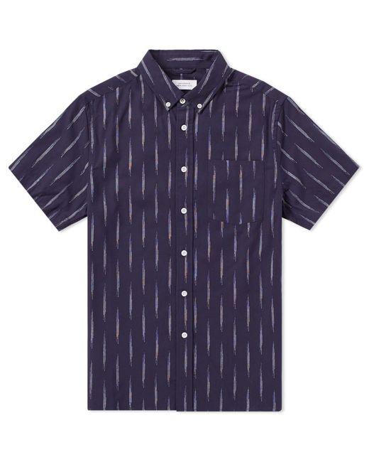 Saturdays NYC - Blue Short Sleeve Esquina Eclat Shirt for Men - Lyst