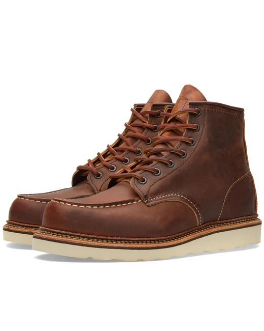 """Red Wing - Brown 1907 Heritage Work 6"""" Moc Toe Boot for Men - Lyst"""