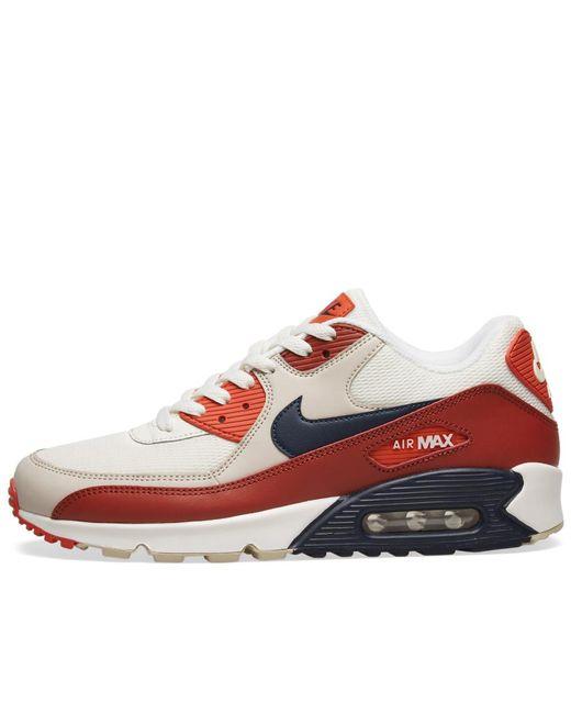 san francisco fe70b a189f ... Nike - Red Air Max 90 Essential for Men - Lyst ...