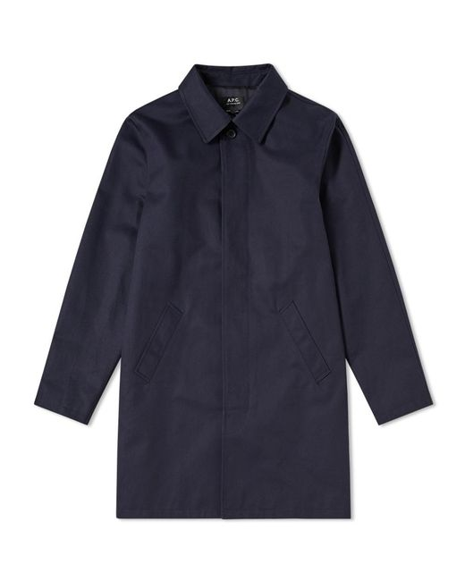 A.P.C. | Blue City Mac for Men | Lyst