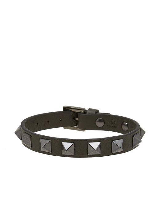 Valentino - Green Rockstud Bracelet for Men - Lyst