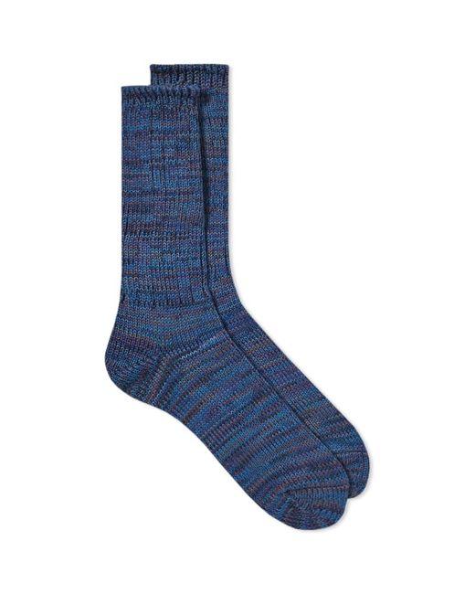 Anonymous Ism - Blue 5 Colour Mix Crew Sock for Men - Lyst