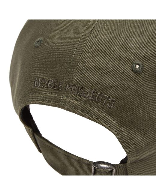 8e820870130 Norse Projects Twill Sports Cap in Green for Men - Save 23% - Lyst