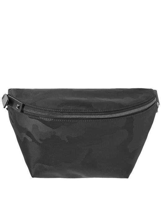 71fc7e1a73dd Valentino - Black Nylon Jacquard Waist Bag for Men - Lyst ...