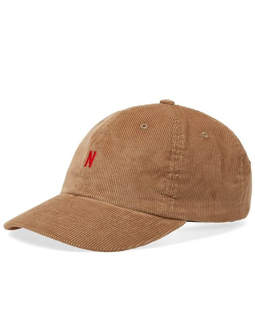 8f478eea027 Norse Projects - Brown Thin Cord Sports Cap - Camel for Men - Lyst ...