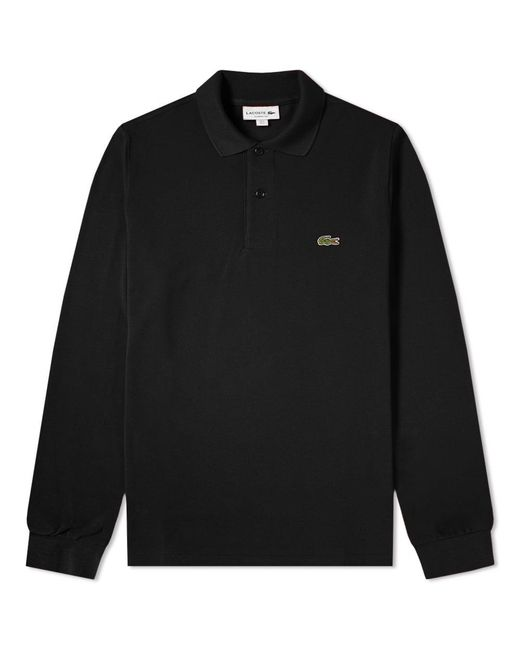 1b60a0cce8c43 Lyst - Lacoste Long Sleeve Classic Pique Polo in Black for Men - Save 4%
