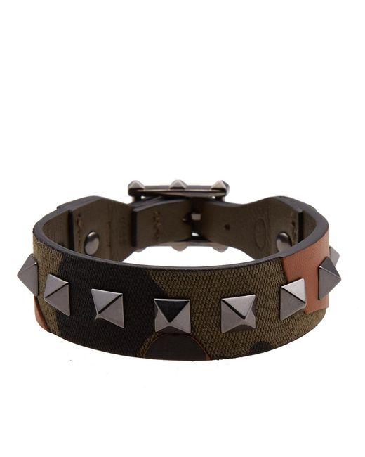 Valentino | Green Rock Stud Bracelet for Men | Lyst