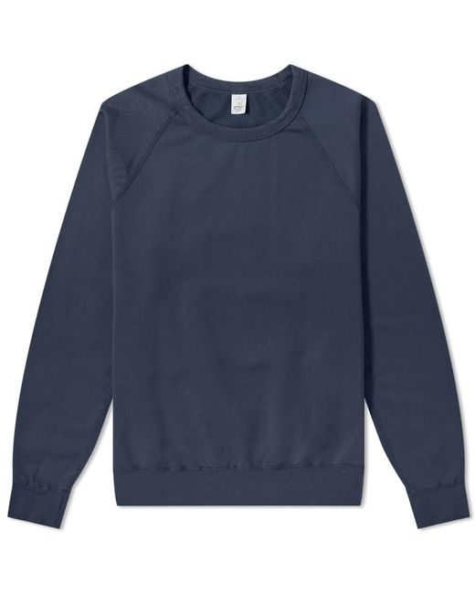 Save Khaki Blue Supima Fleece Crew Sweat for men